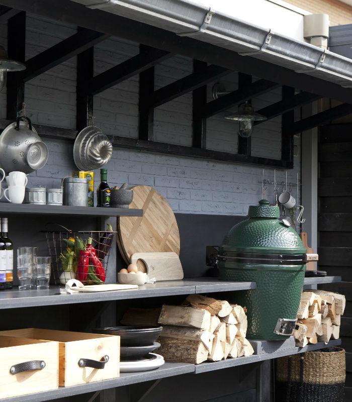 koken in de tuin